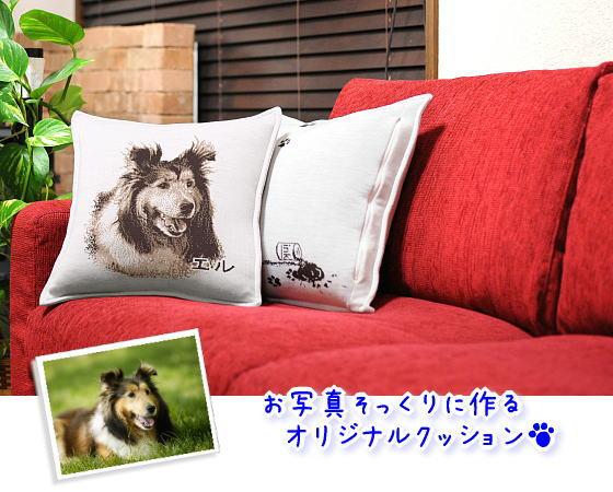 ペットの写真で作った例