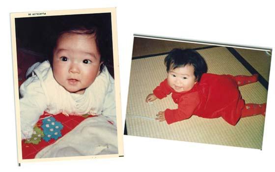 新郎新婦の子供の頃の写真